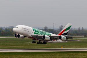 startender Airbus am DUS Flughafen