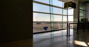 Blick nach draussen Airport Berlin schoenefeld