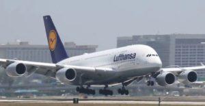 Startender A380 der Lufthansa