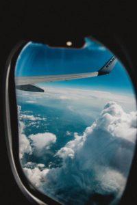 Fenster vom Flugzeug