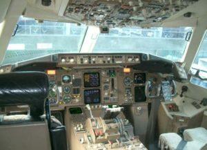 steuerhorn im Flugzeug
