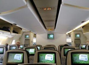 bestuhlung in der Boeing 777
