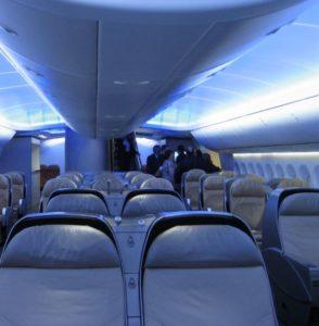 sitze in der Boeing 747