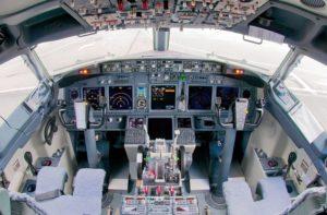 Steuer von Boeing 737