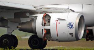 Reverse bei Flugzeugmotor