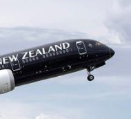 startendes flugzeug air new zealand